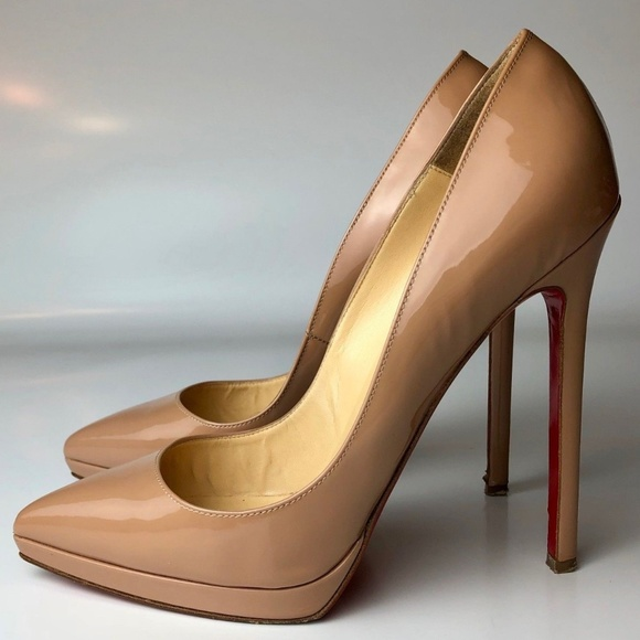 680d1c142dc9 Christian Louboutin Shoes - Louboutin Pigalle Plato 140 Nude Heels Euro 37